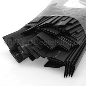Schrumpfschlauch-Set schwarz 12mm - 20mm Durchmesser 135 teilig 10cm lang