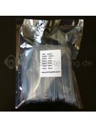 Schrumpfschlauch-Set transparent 1mm - 10mm Durchmesser 135 teilig 10cm lang