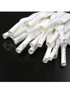 Schrumpfschlauch-Set weiß 12mm - 20mm Durchmesser 135 teilig 10cm lang