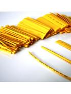 Schrumpfschlauch-Set gelb 2mm - 20mm Durchmesser 111 teilig 10cm lang
