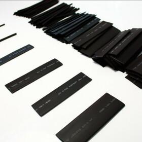 Schrumpfschlauch-Set schwarz 2mm - 20mm Durchmesser 111 teilig 10cm lang