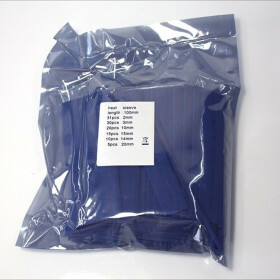 Schrumpfschlauch-Set blau 2mm - 20mm Durchmesser 111 teilig 10cm lang