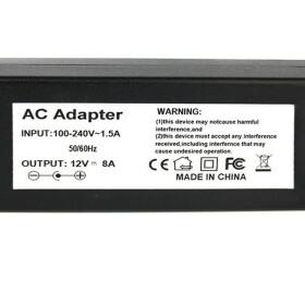 Netzteil von 230V auf 12V 8 A für SMD LED Streifen Trafo zu 12V DC 8 A max. 96 W