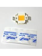 10W LED SMD Power Chip neutralweiß + Wärmeleitpaste Lampe Licht COB 1000 lm hell