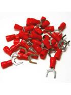 Gabelkabelschuhe / Kabelschuhe M6 rot 0,5-1,5mm²
