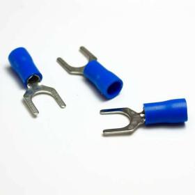 Gabelkabelschuhe / Kabelschuhe M6 blau 1,5-2,5mm²