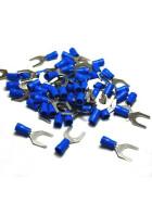 Gabelkabelschuhe / Kabelschuhe M8 blau 1,5-2,5mm²
