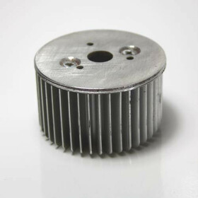 LED Kühlkörper rund Aluminium Wärmeableitung 50mm x 30mm