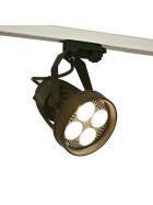 LED Strahler für Euroschiene 24W schwarz schwenkbar E27 warmweiß 2700K Stromschiene Schienenstrahler 90Ra Leuchte