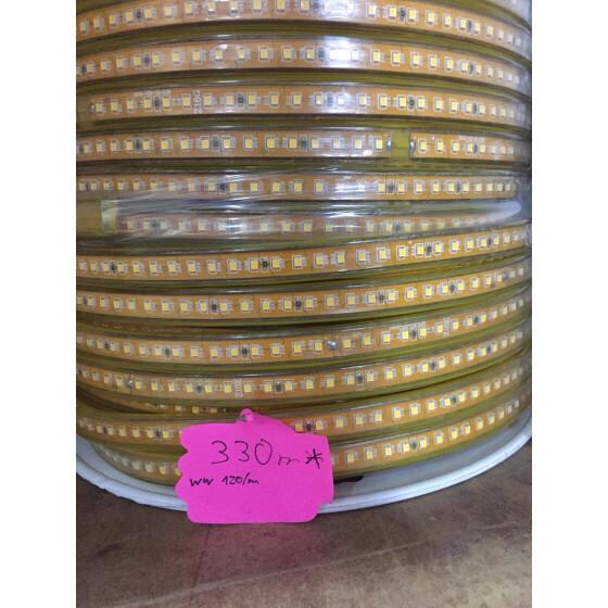 230V LED Streifen 120LED/m warmweiß extra hell Band Streifen Leiste 3200K IP44 Stripe dimmbar