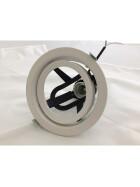 Einbaustrahler Schwenkbar in kardanischer Aufhängung, Weiß 16cm Durchmesser 14cm Lochdurchmesser für E27 PAR30 Leuchtmittel