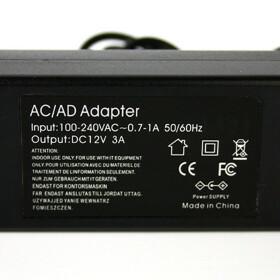 Netzteil von 230V auf 12V 5A für SMD LED Streifen Trafo zu 12V DC 5A max. 60 W
