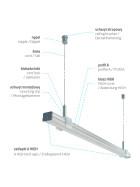 Profil Typ A flach 16 x 9,28 mm Möbelprofil Aluminium