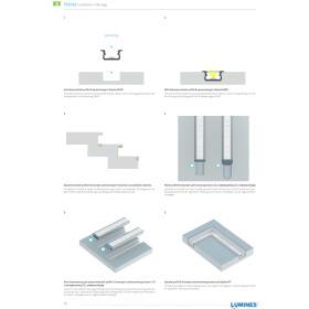 Profil Typ B flach 21 x 9,3 mm Möbelprofil Einbauprofil 16mm Aluminium