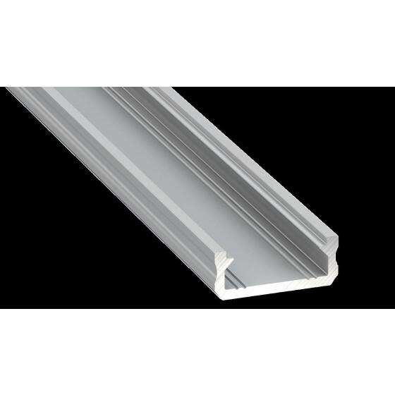 Profil Typ D sehr flach 16 x 6,3 mm Möbelprofil Aluminium