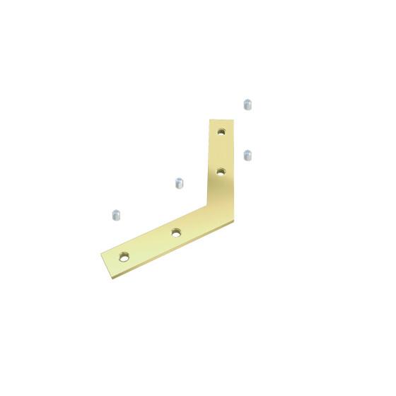 Winkelverbinder flach 120 Grad - SET