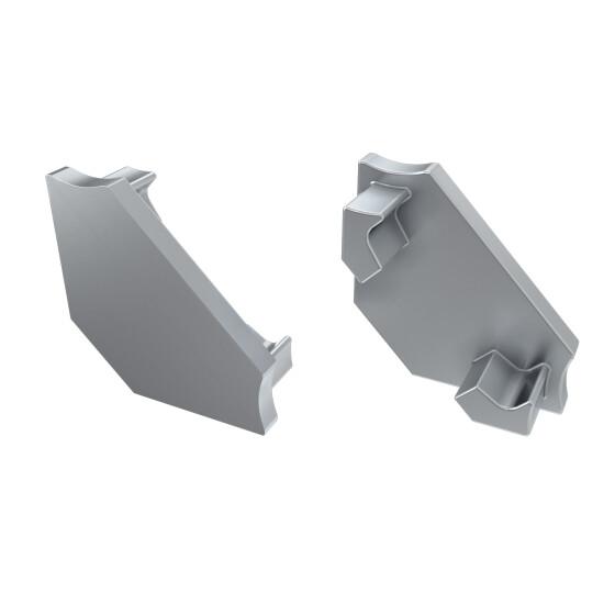 Endkappe für Profil C aus Aluminium