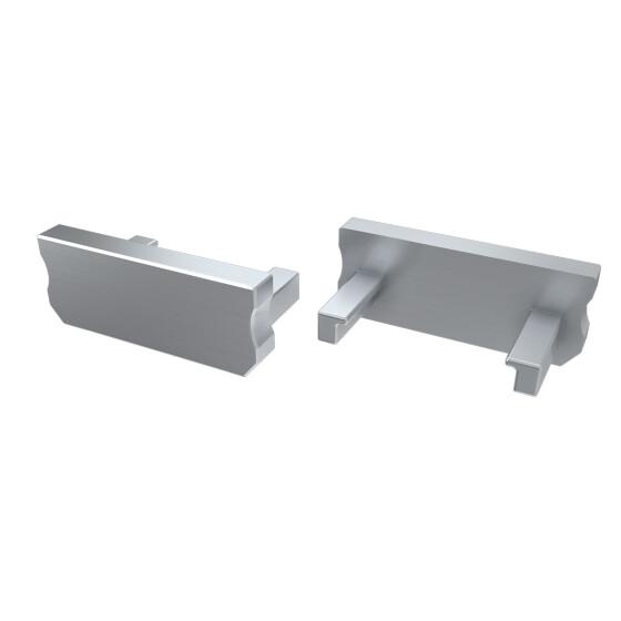 Endkappe für Profil D aus Aluminium