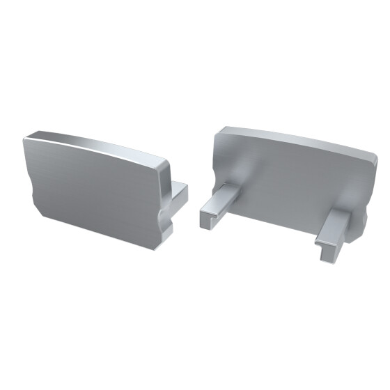 Endkappe für Profil D Hoch aus Aluminium