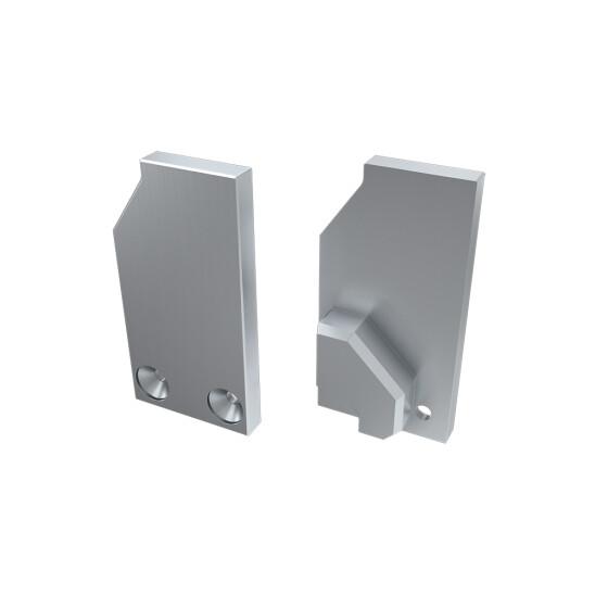 Endkappe für Profil I6 ohne Stütze aus Aluminium