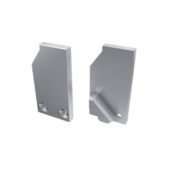 Endkappe für Profil I8 ohne Stütze aus Aluminium