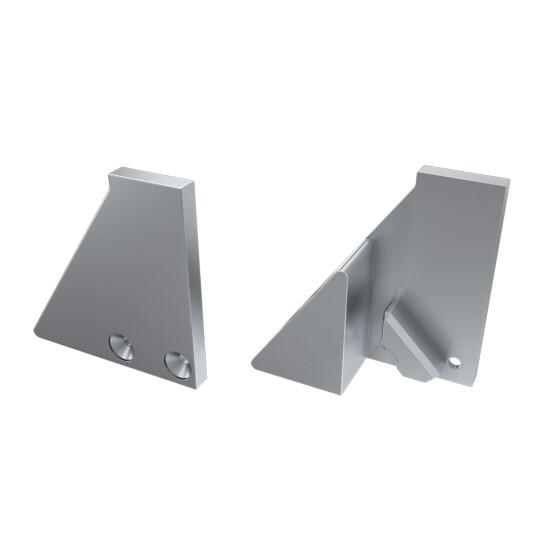 Endkappe für Profil I8 mit Stütze aus Aluminium