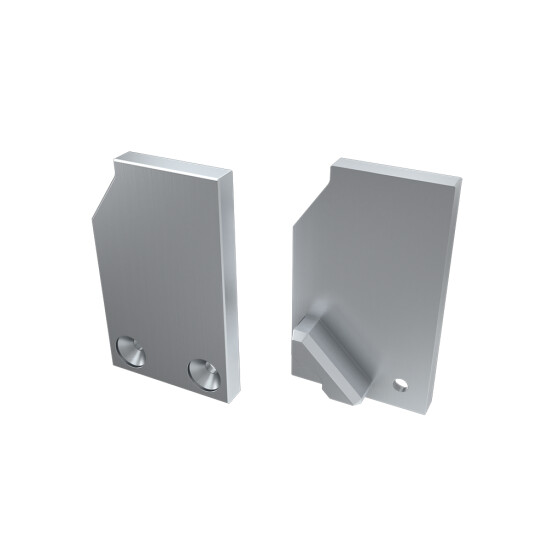 Endkappe für Profil I10 ohne Stütze aus Aluminium