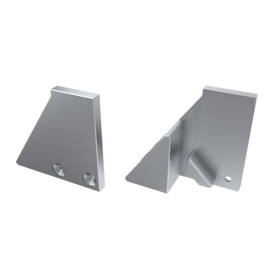 Endkappe für Profil I10 mit Stütze aus Aluminium