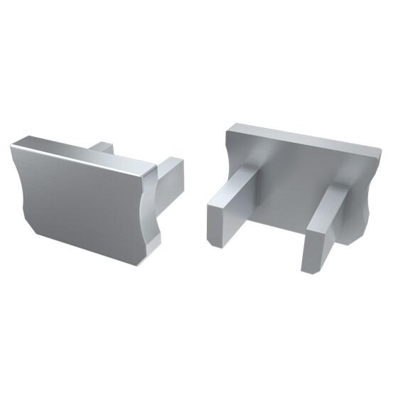 Endkappe für Profil X aus Aluminium