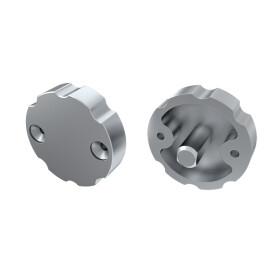 Endkappe für Profil COSMO einstellbar aus Aluminium