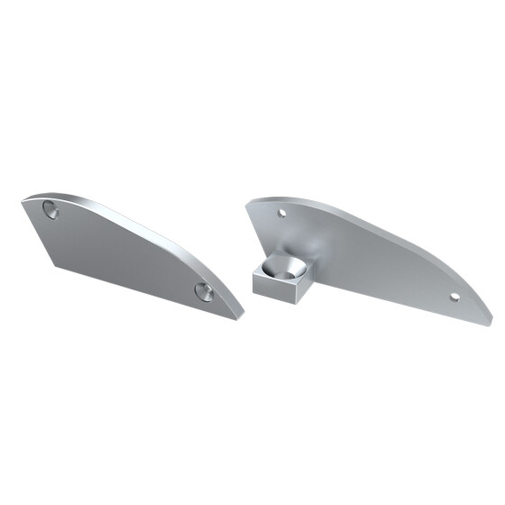Endkappe für Profil RETO 15° aus Aluminium