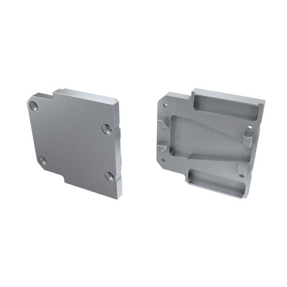 Endkappe für Profil DOPIO aus Aluminium