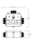 wasserfeste Anschlussdose T Form 3 Anschlüsse IP68 max. 24A 450V AC