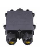 wasserfeste Anschlussdose Y Form 3 Anschlüsse IP68 max. 24A 450V AC