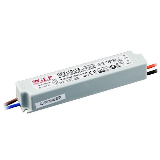 GLP GPV-18 Serie 24V 0.75A Netzteil IP67 Konstantspannung GPV Serie GPV-18-24