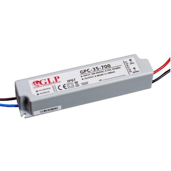 GLP GPC-35 33.6W 9~24V 1400mA Netzteil IP67 Konstantstrom GPC Serie GPC-35-1400
