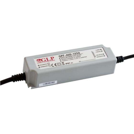 GLP GPF-40D 42W 36~60V 700mA dimbares Netzteil IP67 Konstantstrom mit PFC 3 in 1 Dimmen GPF Serie GPF-40D-700