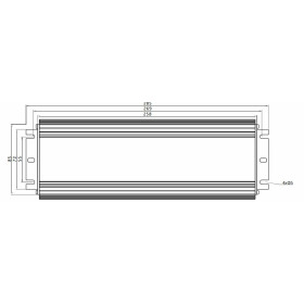 GLP GLG-300 300W 24V 12.5A dimbares Netzteil Metallgehäuse IP67 Konstantstrom mit PFC GLG Serie GLG-300-24