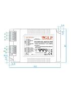 GLP PCC40W-MC 40W  700~1400mA Netzteil Metallgehäuse IP20 Konstantstrom mit PFC PCC Serie PCC40W-MC-MATCH