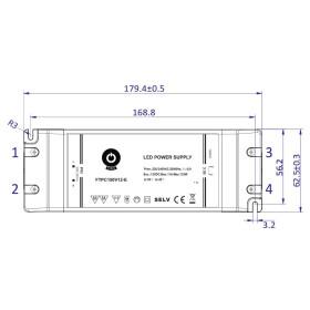 POS Netzteile 24V 6,25A Konstantspannung Kunsstoffgehäuse Serie FTPC-E