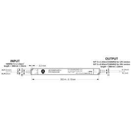 POS IP54 Netzteile schmal 12V 11A Konstantspannung Kunsstoffgehäuse Serie FTPC-S-WP