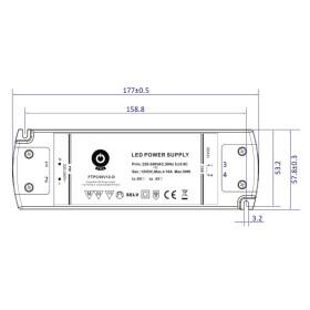 POS TRIAC Phasen Dimmung Netzteile 24V 2,08A Konstantstrom Kunsstoffgehäuse Serie FTPC-D