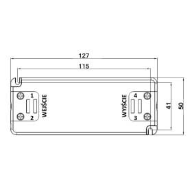 POS Netzteile 350mA 0~34V Konstantstrom Kunsstoffgehäuse Serie FTP8