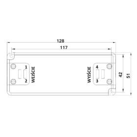 POS Netzteile 350mA 10~43V Konstantstrom Kunsstoffgehäuse Serie FTP8