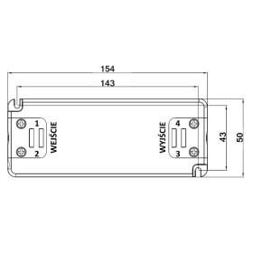 POS Netzteile 350mA 30~56V Konstantstrom Kunsstoffgehäuse Serie FTP8
