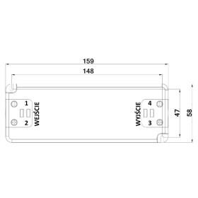 POS Netzteile 1050mA 19~38V Konstantstrom Kunsstoffgehäuse Serie FTP8