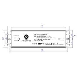POS Netzteile 12V 16,7A Konstantspannung Metallgehäuse Serie MCHQ