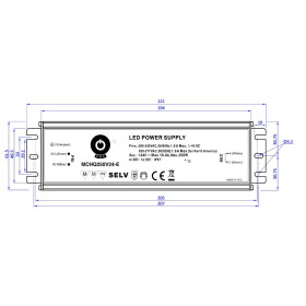 POS Netzteile 12V 20A Konstantspannung Metallgehäuse Serie MCHQ