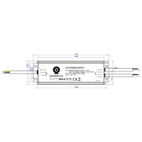 POS Netzteile 12V 25,0A Konstantspannung Metallgehäuse Serie MCHQ