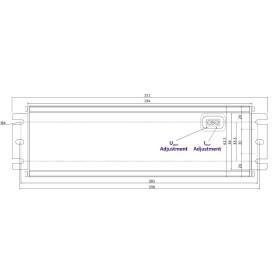 POS Netzteile 24V 6,3A Konstantspannung und Konstantstrom Metallgehäuse Serie MCHQ
